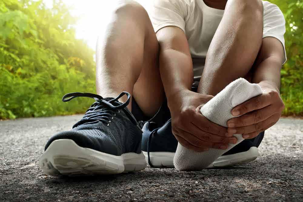 Runner With Painful Foot